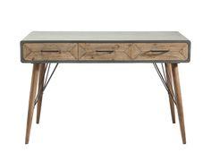 Industrial Look kombiniert mit Vintage-Elementen. Der Schreibtisch X Factory ist ein gekonnter Mix unterschiedlichster Design-Stilrichtungen. Die Rundungen der Tischkanten sind eine Retro-Hommage an die 60er- und 70er Jahre. Die...
