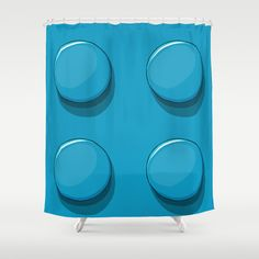 kids bathroom: Brique Lego Shower Curtain by Tristan - $68.00