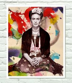 Frida Kahlo Art   11x14 by PersonalPosters4U on Etsy, $19.00