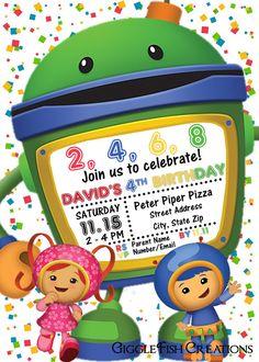 Calling all Umiz! Team Umizoomie Birthday Party Invitation