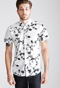 Branch Print Shirt | 21 MEN | #f21men