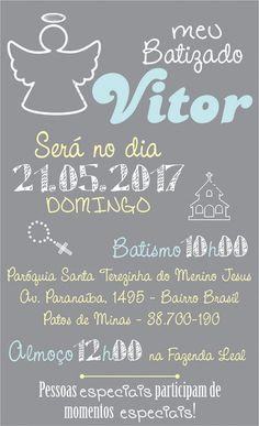Arte Convite Batizado - digital