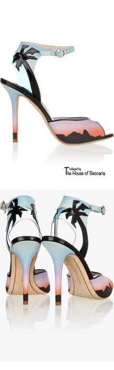 ~Sophia Webster Rio sunset printed matte-satin sandals | The House of Beccaria- I'm absolutely in love with these