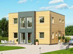 Das Bauhaus Haas S 131 A von Haas-Fertigbau hat eine Wohnfläche von 134,57 m² verteilt auf 7 Zimmer ➤ Klick auf das Bild, um direkt zur Auswahl an Bauhäusern zu gelangen ➤ Dazu findest du ein großes Angebot von Häusern aller Art auf www.Fertighaus.de ______ Cubus Haus Architektur, Hausbau, modern, Design, Flachdach