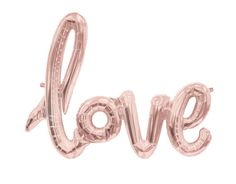 NEW Love Script Balloon Banner by JustSimplyL on Etsy