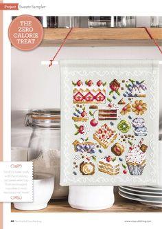 """Альбом """""""" в увеличенном режиме Cross Stitching, Cross Stitch Embroidery, Cross Stitch Kitchen, Shabby, Cross Stitch Boards, Cross Stitch Pictures, Cross Stitch Designs, Tea Pots, Sweets"""