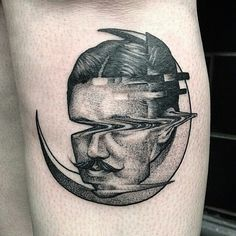 This is how it looks in tattoo: Max Amos is specialized in glitch tattoos.