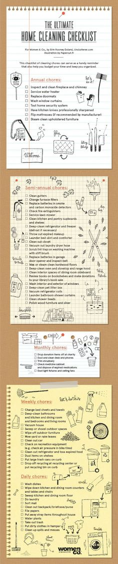 Need This: Ultimate Home Cleaning Checklist! #organizingyourhome #clutterhelp