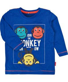 Name It cool blue t-shirt with monkey heads #emilea