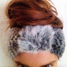 Wool and fakefur headband. @handmade @ninnamakes