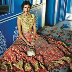"5,045 Likes, 17 Comments - Anita Dongre (@anitadongre) on Instagram: ""Jaipur, Rajasthan   2014  Model: @keisha_lall  Hair & Makeup: @namratasoni  Photography: @ridburman…"""