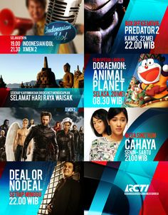 motion design - broadcast graphics package and tv branding - style frames RCTI On Air Rebrand 2008 by koes adio, via Behance