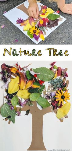 Nature Tree – Raising Hooks – Crafts for Kids – Fall Nature Activities, Craft Activities For Kids, Toddler Activities, Preschool Activities, Craft Ideas, Summer Activities, Fall Preschool, Family Activities, Toddler Art