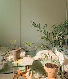 Green Rooms, Bedroom Green, Room Ideas Bedroom, Bedroom Decor, Bedroom Inspo, Room Ideias, Pretty Room, Aesthetic Room Decor, Cosy Aesthetic