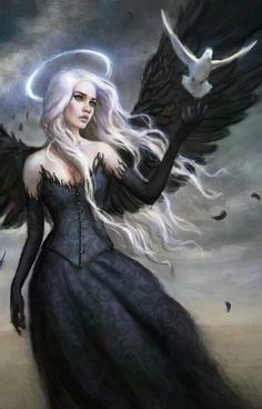 All information about Fantasy Art Dark Angels. Pictures of Fantasy Art Dark Angels and many more. Dark Fantasy Art, Fantasy Kunst, Fantasy Artwork, Fantasy World, Fantasy Art Angels, Fantasy Art Warrior, Dark Gothic Art, Dark Angels, Angels And Demons