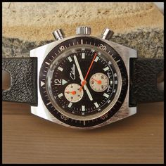 NOS 1970's CHATEAU Vintage Chronograph Watch; HW Ebauches Bettlach Cal. EB8420