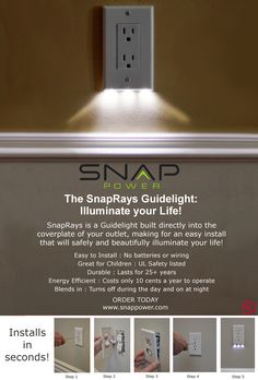 Easy, safe, beautiful Guidelight! To pre-order, go to www.kickstarter.com/projects/snappower/the-snaprays-guidelight-illuminate-your-life