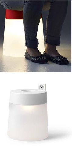 IKEA PS 2014 LED stool lamp. Create a cozy corner wherever you like, with this portable LED lamp that also functions as a stool. Runs on rechargeable batteries.