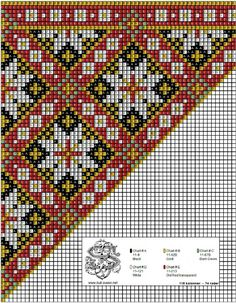 bringeklut 125 var 2 Hardanger Embroidery, Folk Embroidery, Cross Stitch Embroidery, Embroidery Patterns, Loom Bands, Bead Loom Patterns, Peyote Patterns, Cross Stitch Designs, Cross Stitch Patterns