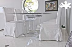 Lucite Acrylic dining table - Acrylic furniture - TAVOLI PRANZO IN PLEXIGLASS | Tavolo trasparente in plexiglass 08b.mod. MEZZO ROMANO   | Tavolo in plexiglass cm.200 x 100 h.75 - 2 basI MEZZO ROMANO fusto diam.cm.24 - piani cm.55 x 27,5 sp.cm.4 - piano in vetro sp.mm.15 #lucite #design #homedecor #acrylic