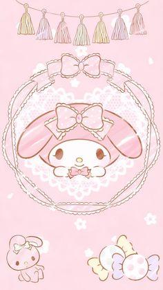 My Melody Wallpaper, Sanrio Wallpaper, Kawaii Wallpaper, Wallpaper Iphone Cute, Cute Wallpapers, Melody Hello Kitty, Sanrio Danshi, Hokusai, Phone Themes