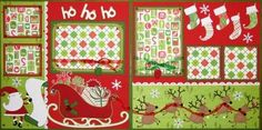 Ho, Ho, Ho scrapbook layout