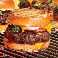 Bacon-Burger Melts | http://www.rachaelraymag.com/Recipes/rachael-ray-magazine-recipe-search/lunch-recipes/bacon-burger-melts