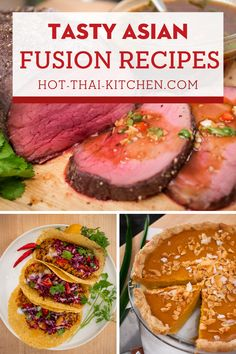 Enjoy these simple and easy Asian fusion recipes! Curry tacos, Tom Yum pizza, and drunken spaghetti, these are just a few mash ups between Thai and western dishes that will have you coming back for more. With full video tutorials you're guaranteed to be successful at creating these dishes at home! |how to make Asian fusion food |how to cook Asian fusion recipes for dinner | Authentic Asian food recipes for lunch and dinner| Asian inspiration Lunch Recipes, Dinner Recipes, Fusion Food, Lunches And Dinners, Video Tutorials, Asian Recipes, Tacos, Spaghetti, Curry