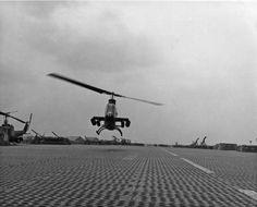 Cobra gunship takes off from Bien Hoa Air Base.