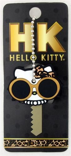Loungefly Hello Kitty Leopard Bow with Sunglasses & Pearls Rubber Key Cap Cover Loungefly Hello Kitty, Key Caps, Key Covers, I Love Cats, Bows, Pearls, Vroom Vroom, Car Stuff, Car Accessories