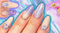 HOLO LILAC FAIRY GLITTER NAILS | IRIDESCENT GLITTER GRADIENT & CRYSTAL Glitter Gradient Nails, Nail Tech, Iridescent, Lilac, Nail Designs, Fairy, Nail Art, Crystals, Beauty