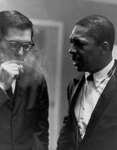 Bill Evans having a talk with John Coltrane | [photographer unknown] http://www.BillEvans.Estate