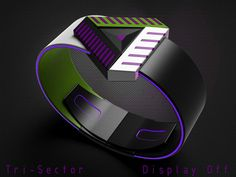 Tri-Sector watch is a 3-sided alien timepiece.