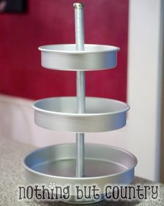 3 tiered cupcake stand ( or crafts storage ) - how to instructions