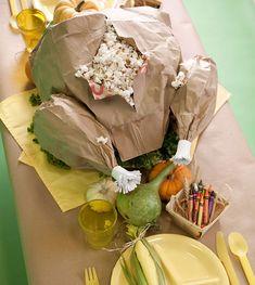 DIY paper bag turkey