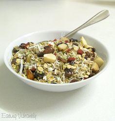 4 Of The Best Homemade Healthy Muesli Recipes - Page 2 of 2 - Clean Food Now Healthy Muesli Recipe, Healthy Cereal, Healthy Cooking, Healthy Snacks, Healthy Eating, Clean Recipes, Raw Food Recipes, Cooking Recipes, Raw Vegan Breakfast