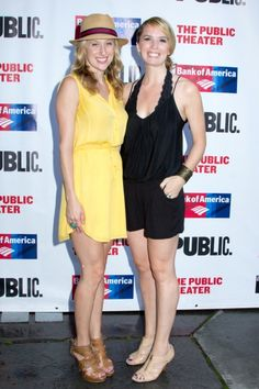 besties Caissie Levy and Kacie Sheik looking stylish at Shakespeare in the Park
