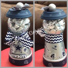 How Dogs Get Heartworm Info: 1376153411 Dallas Cowboys Crafts, Dallas Cowboys Party, Football Crafts, Dallas Cowboys Baby Shower Ideas, Clay Pot Projects, Clay Pot Crafts, Diy Crafts, Cowboy Theme, Cowboy Party