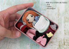 Amigurumi Doll, PDF PATTERN, Pattern BUNDLE, Crochet Pattern, Amigurumi Crochet, Doll Pattern by PinkMouseBoutique on Etsy https://www.etsy.com/uk/listing/467384416/amigurumi-doll-pdf-pattern-pattern