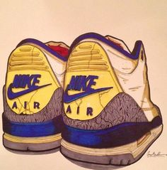 Dope cartoon drawing of the TRUE BLUES!!