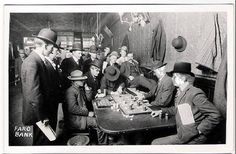 Famous photo of a Faro game, Bisbee Arizona, 1890. (Photo by C. S. Fly)