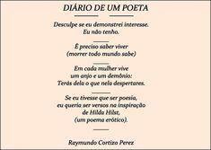 SONHOS, POESIAS E VERSOS - Raymundo Cortizo Perez: P!ngos De Letr@s - 1981 a 1985