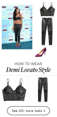 """Naya Rivera's look"" by desiv2001 on Polyvore featuring Line & Dot, Charlotte Olympia and Zara"