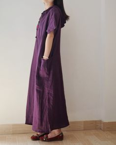 PURPLE LINEN ROBE