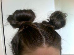 retro lovin hair buns. cute
