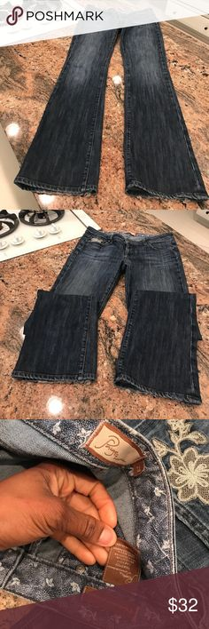 Paige Benedict Canyon Paige Paige Benedict Canyon Bootcut  Jeans in size 29 flat lay measure of the waist is 15. Rise is 7.85, inseam is 34, and leg opening is 8.5 (300) Paige Jeans Jeans Boot Cut