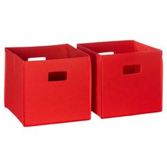 RiverRidge Folding Storage 2 Pc Bin Set - Red