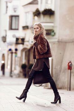Caro Daur - Zara Shoes, Hallhuber Outerwear - Austria