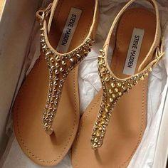 Steve Madden studded sandals<3