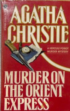 Murder on the Orient Express by Agatha Christie. Golden Age British crime fiction, US paperback edition book cover.